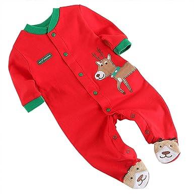 a65da54d1 MiyaSudy Newborn Baby Boys Girls Red Christmas Pack Feet Reindeer ...