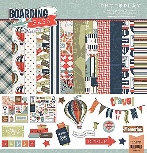 Photoplay Paper Photo Play 12x12 Boarding Pass Collection Pack