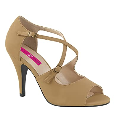 Pink Label Big size Crisscross Sandaletten Sandalen Dream-412 taupe