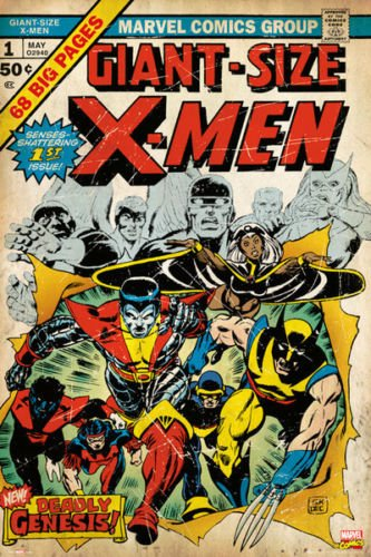 Twenty-three 24X36 Inchcanvas poster-X-Men - Marvel Comics P