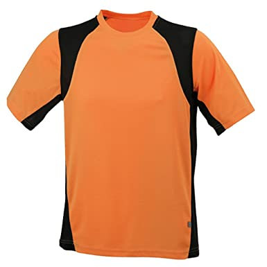 JAMES & NICHOLSON Funktionelles Laufshirt (3XL, orange/black)