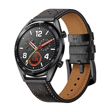 DIPOLA Correa para la Muñeca del Reloj de Cuero de Reemplazo de Moda para Huawei Watch
