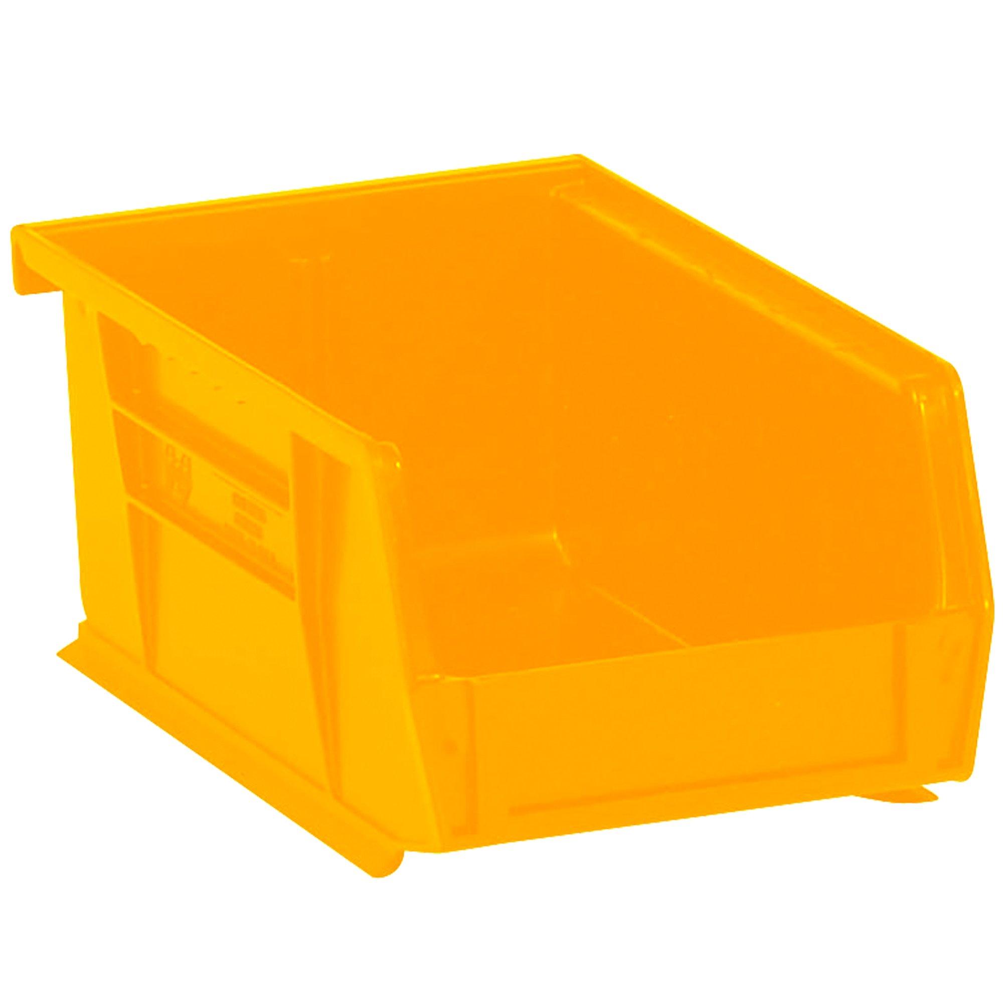 Aviditi BINP0965Y Plastic Stack and Hang Bin Boxes, 9 1/4'' x 6'' x 5'', Yellow (Pack of 12)