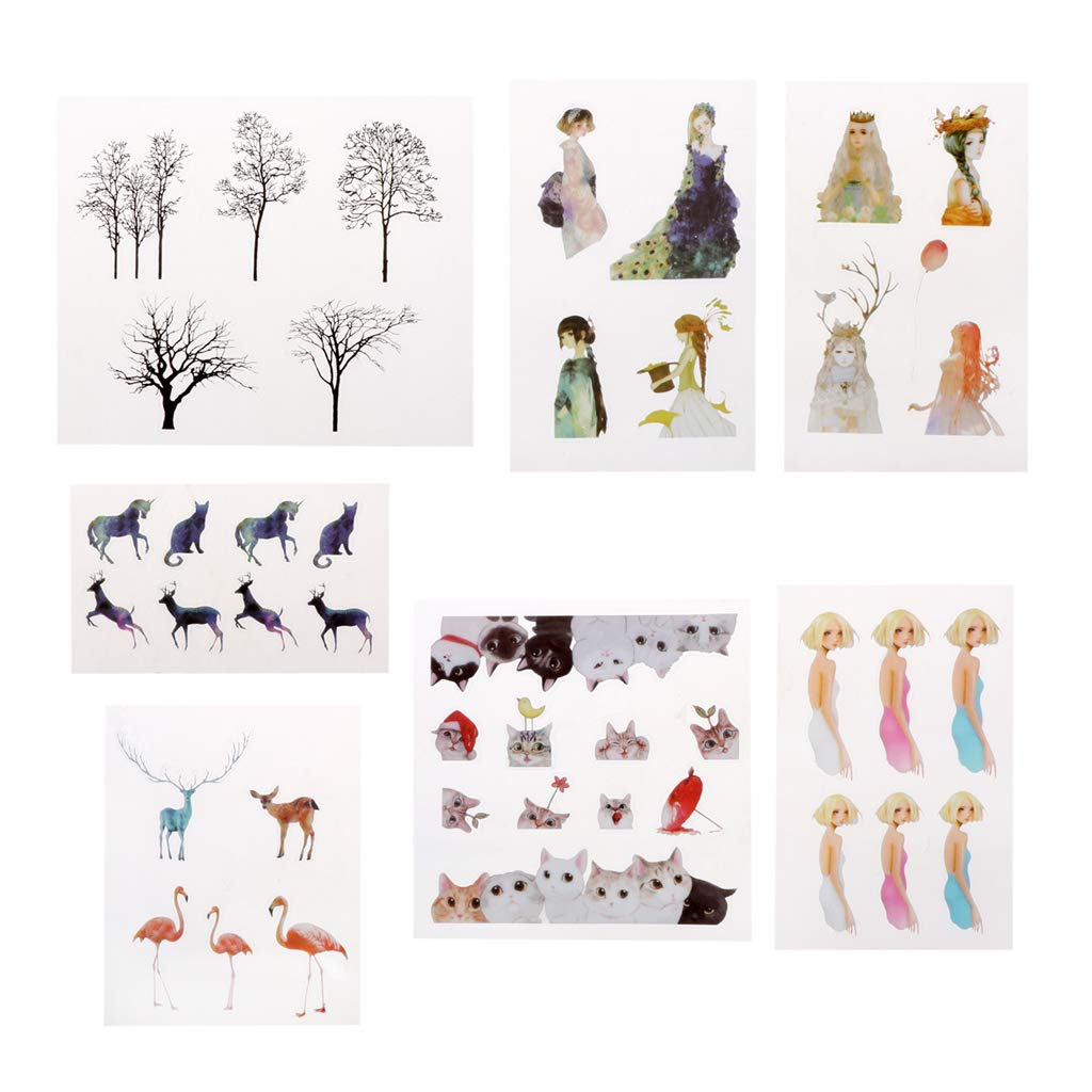 Ninbo 7 Piezas Resina Joyas Pegatinas DIY artesan/ía Forma Material Decor Joyas Herramientas de Relleno