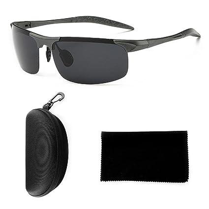 Kobwa Gafas de sol polarizadas deportivas, protección UV400, gafas deportivas de resistencia al impacto