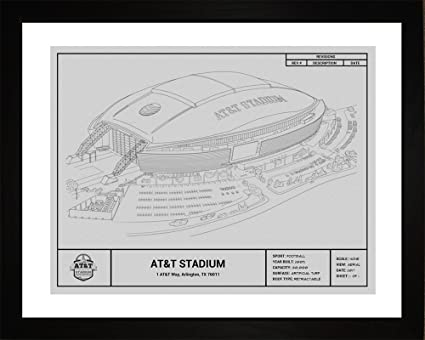 Amazon dallas cowboys att stadium framed blueprint wall art dallas cowboys att stadium framed blueprint wall art malvernweather Gallery