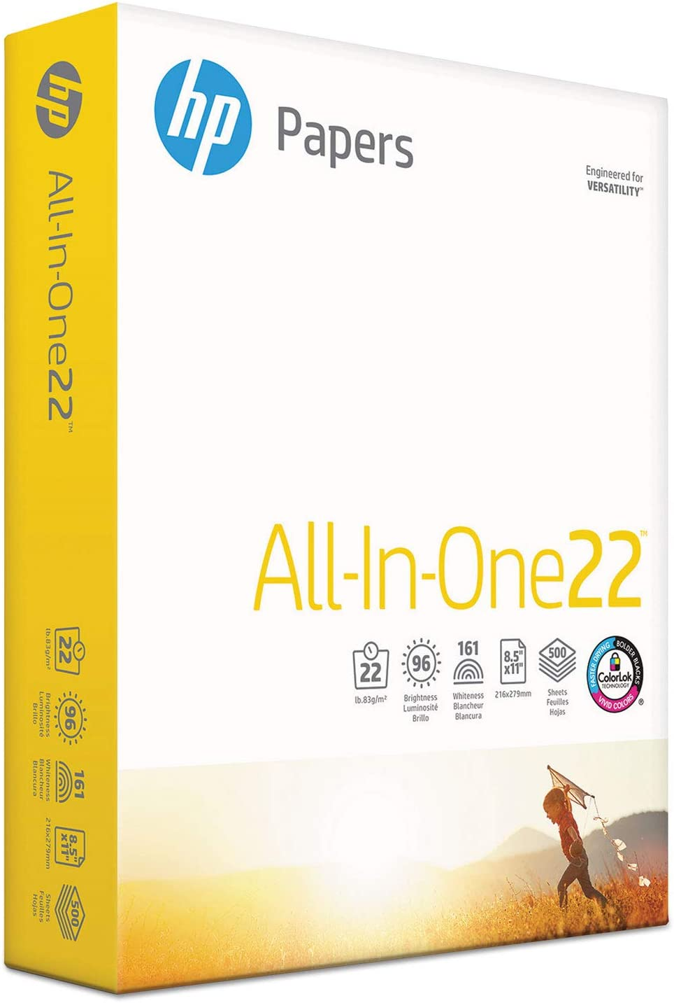 HP All-in-One Paper, 96 Bright, 22 lb, 8-1/2 x 11, White, 500 Sheets/RM (207010)