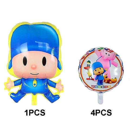 Amazon.com: 5 globos de Pocoyo para fiestas de cumpleaños ...
