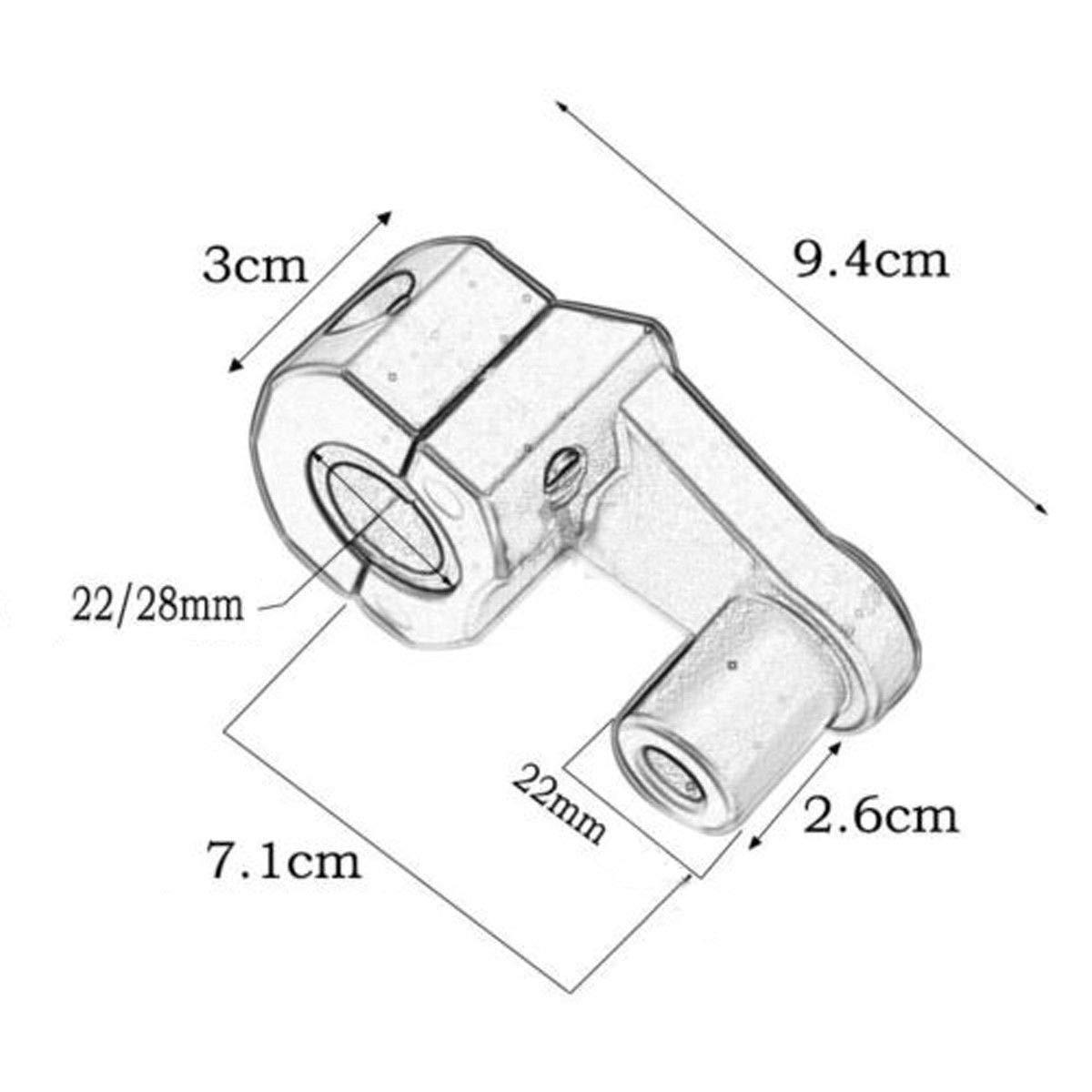 28 mm universali Sunwan Rialzi per manubrio moto adatti per manubri da 22 mm in lega di alluminio resistente