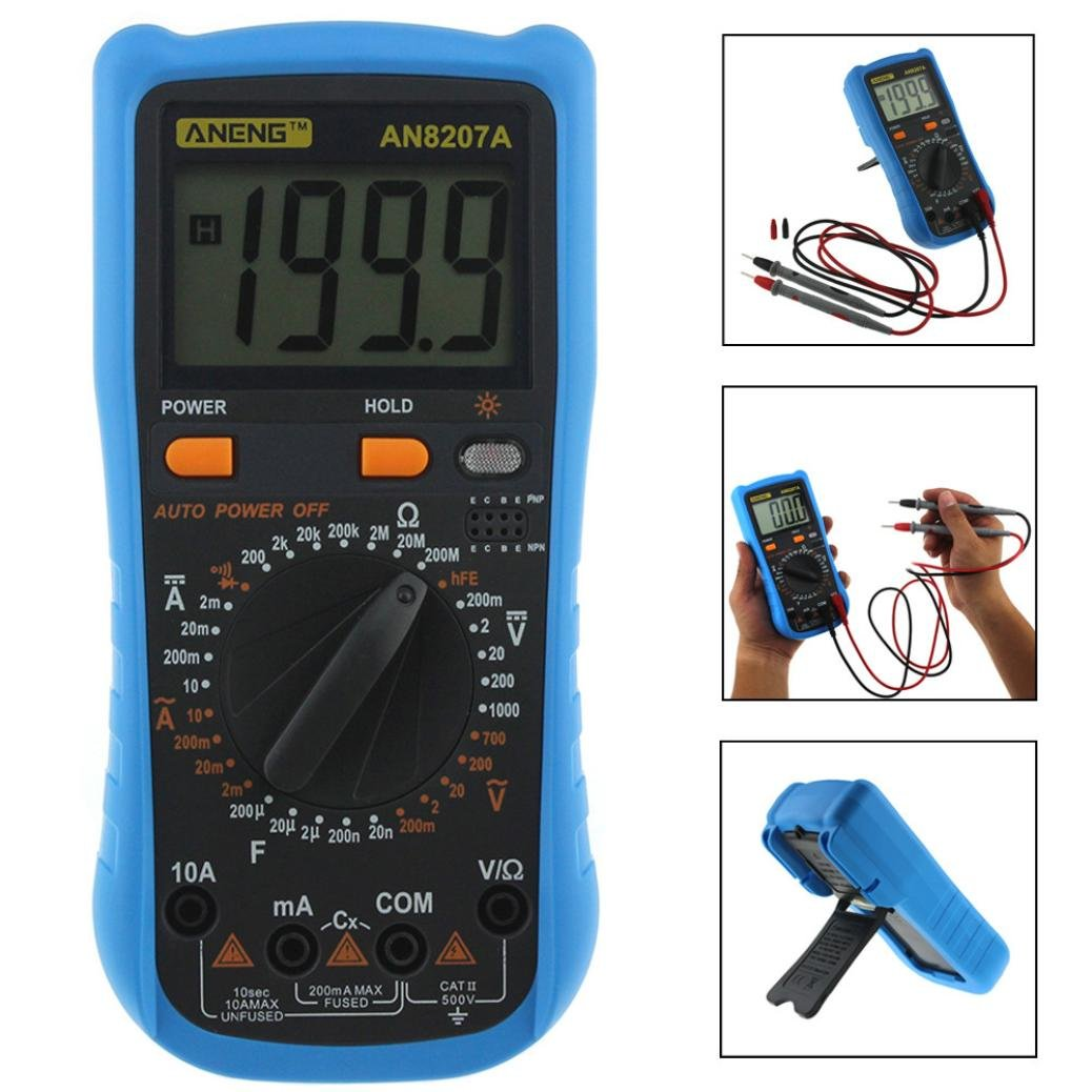 LtrottedJ Digital Voltmeter Ammeter Ohmmeter Multimeter Volt ,AC DC Tester Meter