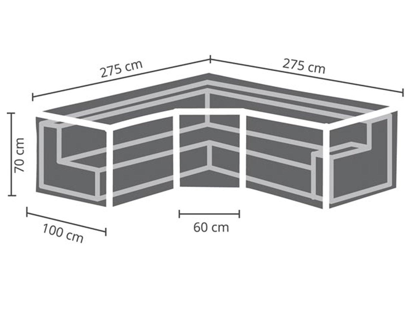 Perel Garden OCLSTRAP Schutzhülle Für Lounge-Set-Trapez, Schwarz, 275 275 275 x 275 x 70 cm 307b89