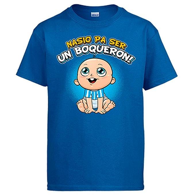 Diver Camisetas Camiseta Nacido para ser un Boquerón Málaga fútbol  Amazon. es  Ropa y accesorios b5b90bebacfe6