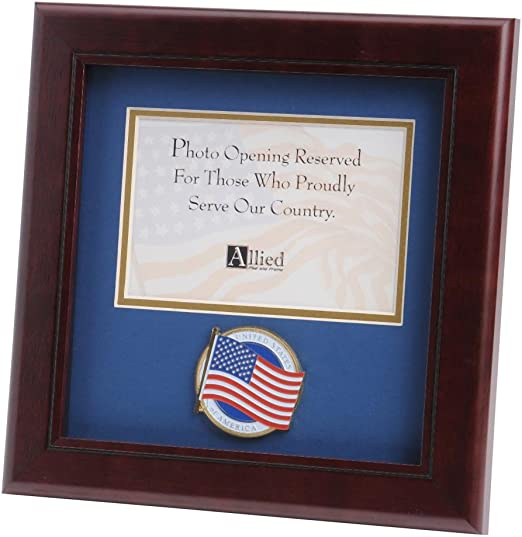Amazon Com Allied Frame Us American Flag Medallion Landscape Picture Frame 4 X 6 Picture Opening Other Products