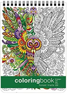 Forest Trails Coloring Book 862 X 1175 Inches