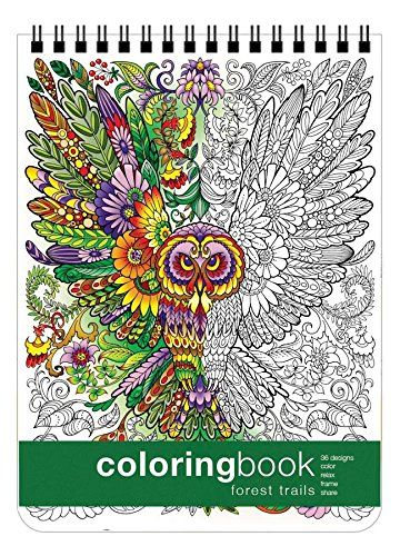 - Forest Trails Coloring Book (8.62 x 11.75 inches)