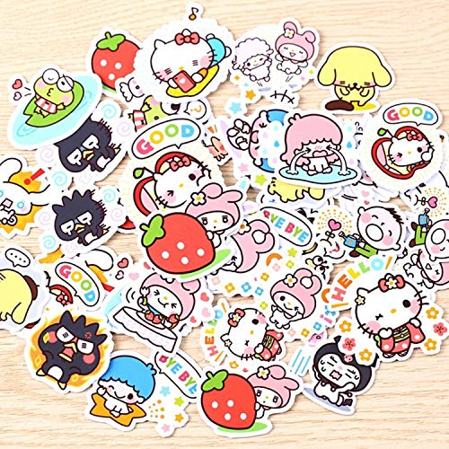 (40pcs Creative Kawaii self-Made Love Sanrio Girl Stickers Beautiful Stickers/Decorative Sticker/DIY Craft Photo Albums)