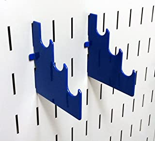 product image for Wall Control Pegboard Slotted Metal Pegboard Rod Bracket Pair Accessory Pack for Wall Control Pegboard and Slotted Tool Board – Blue