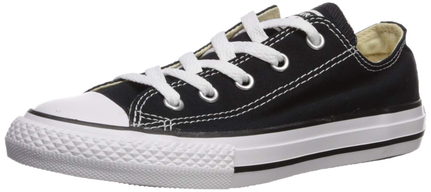Converse unisex-child Chuck Taylor All Star  Low Top Sneaker, black, 13 M US Little Kid by Converse