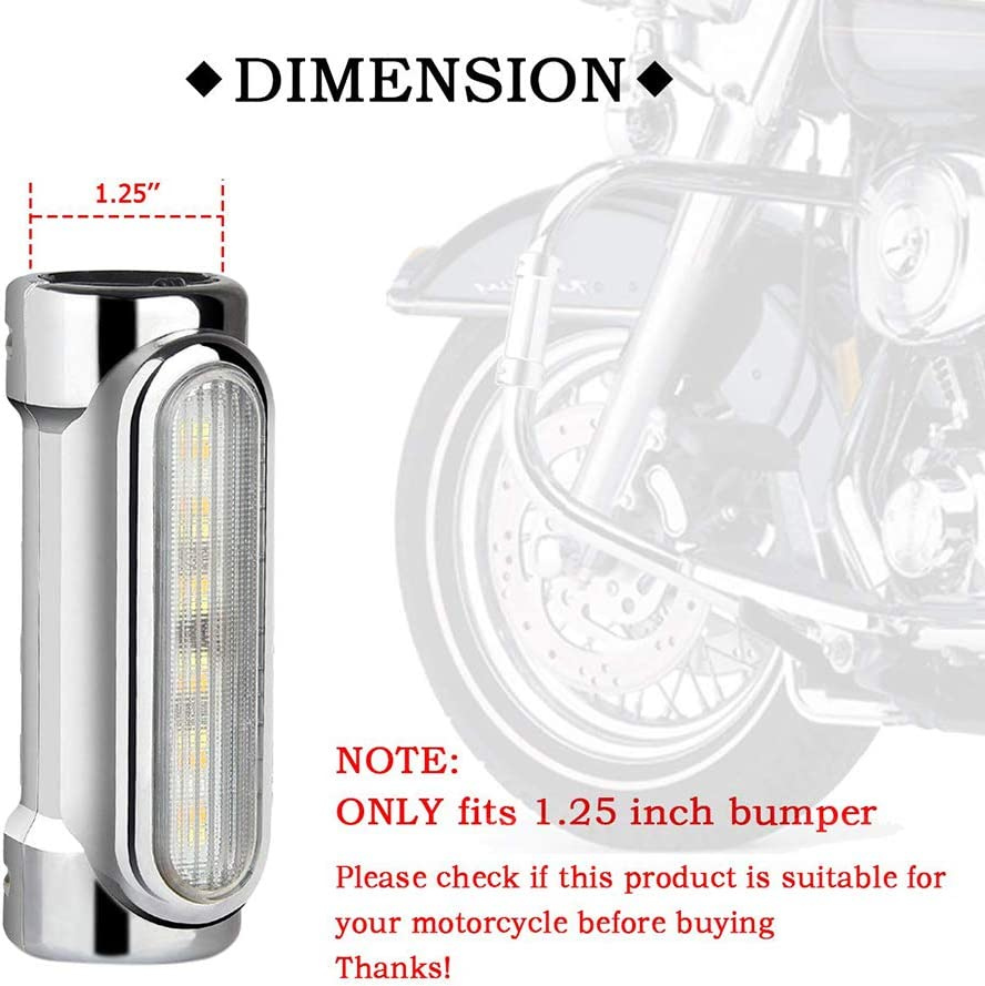 Switchback Conduisant Turn Signal Light Ambre LED Pour Harley Victory Crash Bars Harley Davidson Dyna Touring V/élos barsku 2pc Moto Bar Lumi/ères De La Route