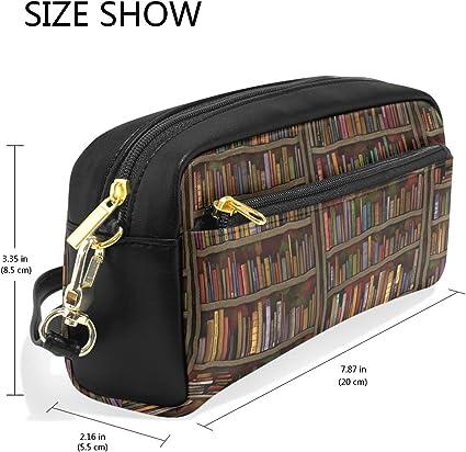 Estuche de gran capacidad para libros de biblioteca, bolígrafo de pared, bolsa de papelería con cremallera maquillaje: Amazon.es: Oficina y papelería