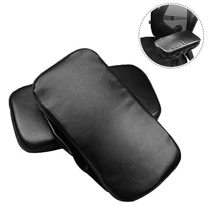 1 par de reposabrazos ergonómicos de piel para sillas ...