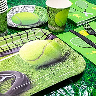 Tennis Party Supplies (113+ Pieces for 16 Guests!), Tennis Birthday, Sports Tableware and Table Decorations: Health & Personal Care