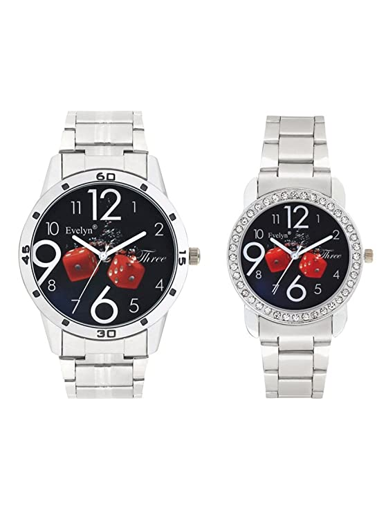 Analog Stainless Steel Watches for Lovely Couple -Eve-643-696