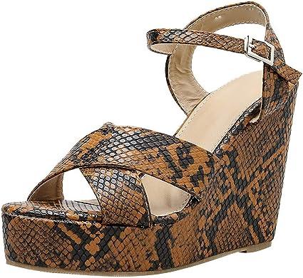 Emerayo Shoes Women's Snakeskin Wedge
