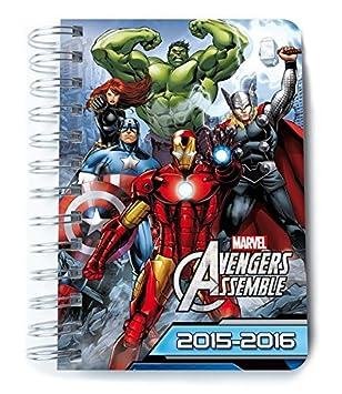 Agenda escolar 2015-16 Día página Marvel: Amazon.es: Oficina ...