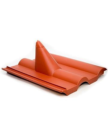 Taunus Dachziegel Solardurchgang Dachdurchgang RAL 8004 - Ziegelrot Solardurchf/ührung f/ür Braas
