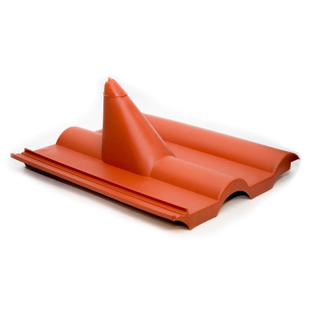 PremiumX Dachabdeckung Frankfurt Schwarz Dachpfanne Dach Abdeckung Dachziegel aus Kunststoff PVC