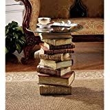 Design Toscano Power of Books Sculptural Glass-Topped Small