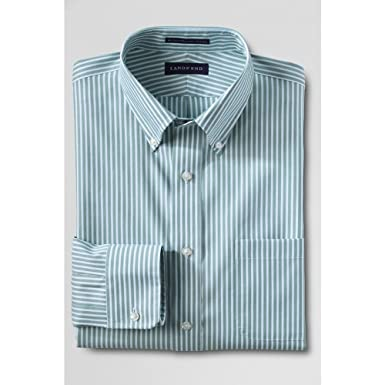 ede2cb7ac73 Lands  End Men s Tall Traditional Fit Pattern No Iron Supima Pinpoint  Buttondown Dress Shirt