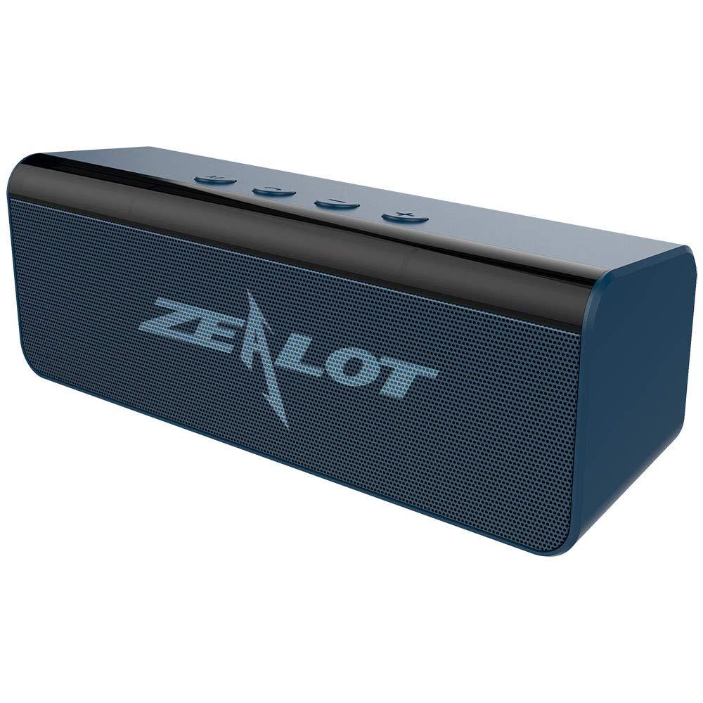 Altoparlante Bluetooth Portatili,Zealot S31 Cassa Bluetooth 5.0 Speaker Wireless Stereo Suono Potente con Microfono Incorporato,10 ore di Riproduzione AUX//TF card//USB per Esterno Casa Viaggio-Rosso
