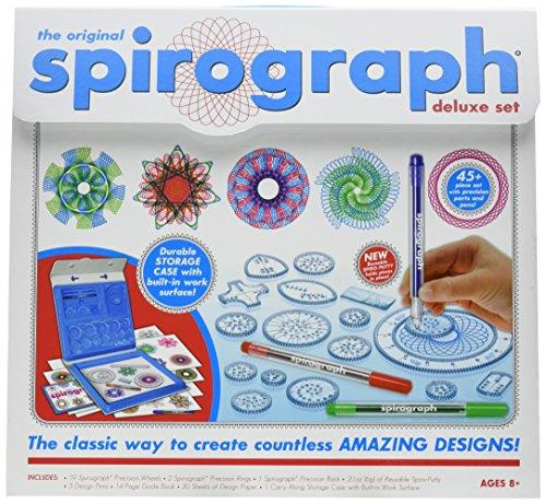 (Kahootz Spirograph Deluxe Design Set with Spirograph Coloring Book & Pencils)
