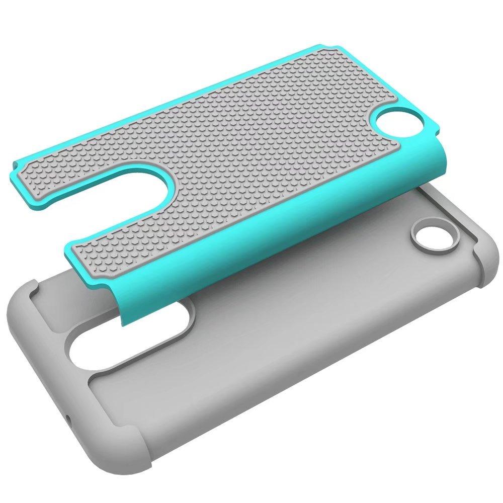 LG Aristo//LG Phoenix 3 //LG K8 2017//LG Risio 2 //LG K4 2017 Case with Nano Soft Skin Screen Protector Black I VIKKLY Heavy Duty Hybrid Dual Layer Shockproof Protective Case Drop Protection