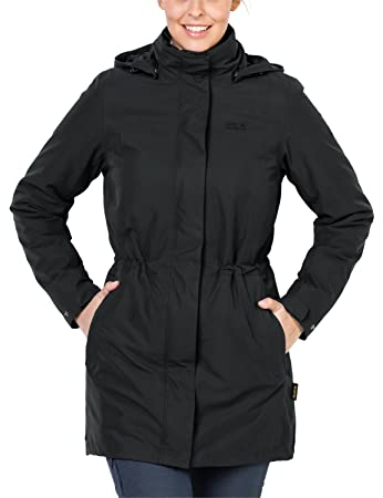 Jack Wolfskin Damen Mantel Ottawa Coat 3-in-1 Jacke, Black HW 17