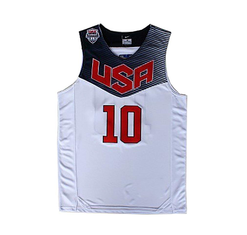 Basketball Jerseys Kyrie Irving # 10 2014 Copa del Mundo de Baloncesto Estados Unidos Dream Team Blanco Americano Camisetas tamaño M 48: Amazon.es: Deportes ...