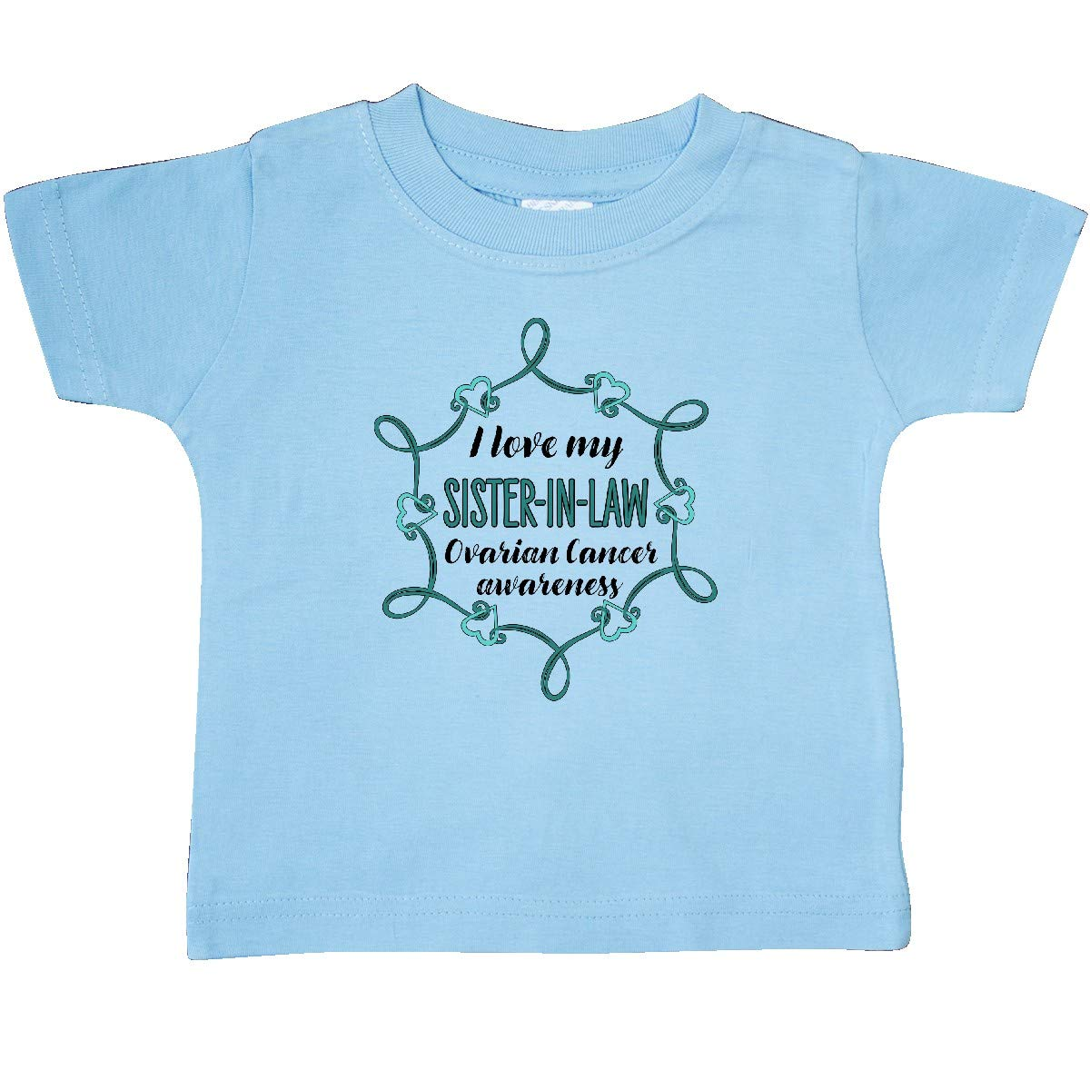 inktastic I Love My Sister-in-Law Ovarian Cancer Awareness Baby T-Shirt
