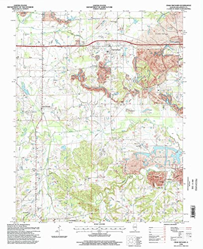 Crab Orchard IL topo map, 1:24000 scale, 7.5 X 7.5 Minute, Historical, 1996, updated 1998, 27 x 22 IN - - Old Il Orchard