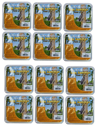12 Pack Pine Tree Farms Log Jammer Insect Suet 3 Plugs Per Pack (36 Plugs Total) ()