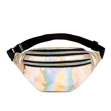 2a25b6ed431e7 Amazon.com: HWX Waist Pack, Unisex Glitter Fanny Bag Outdoor Travel ...