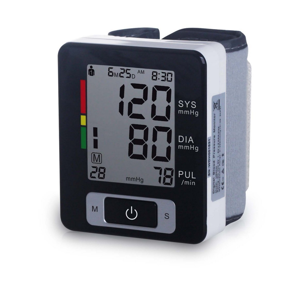 Automatic Wrist Blood Pressure Monitor FDA Approved with Portable Case, Two User Modes,180 Memory Capacity Easy to Operate & Store (black)