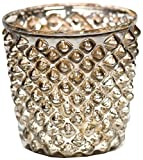 Insideretail Tea Light Holders, 7cm, Antique Silver Diamond, Set of 6