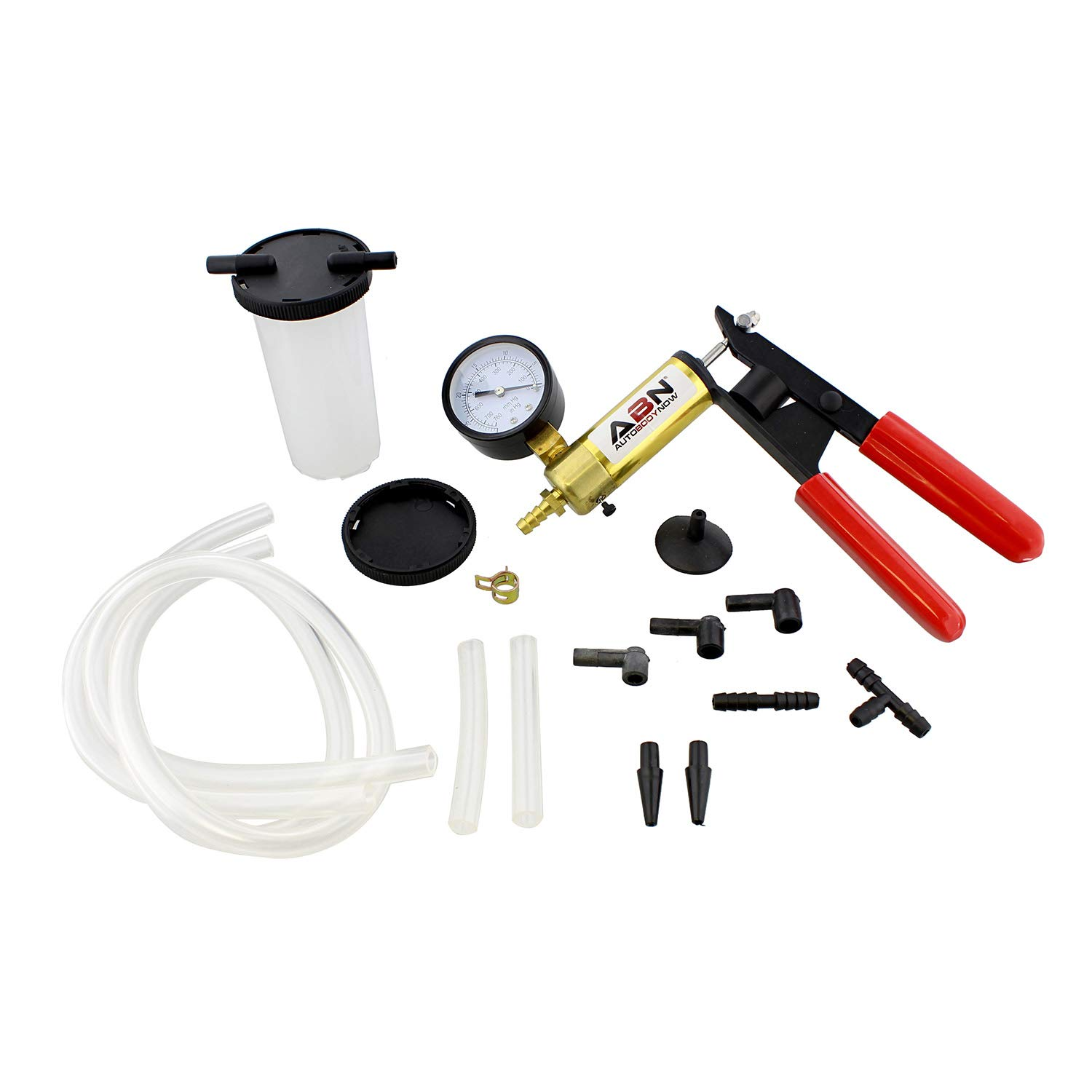 ABN Brake Bleeder Kit Universal Vacuum Pump & Brake Bleeding Tester Set for Automotive Service & Airtight Food Canning