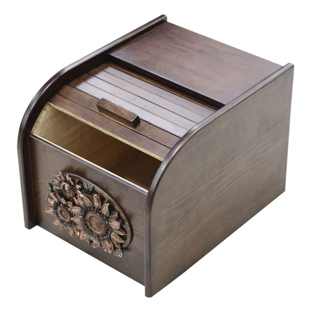 FRF 収納ボックス- 家庭用キッチンシールストレージボックス、防湿と防虫ライスシリンダーライスフラワーライスストレージボックス (色 : Brown, サイズ さいず : 26x35x24cm) B07M6S2VWX Brown 26x35x24cm