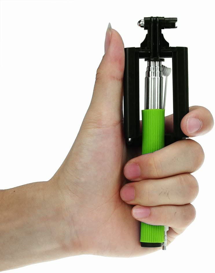 callm Mini Extendable Handheld Fold Self-Portrait Stick Holder Monopod Black
