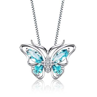 Aurora Tears Sterling Silver Pendant Green Butterfly Collier Bijoux Bijoux  Cadeaux pour Les Femmes et Les 761e9191ef53