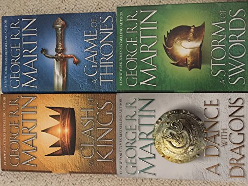 FOUR-BOOK GEORGE MARTIN SET: GAME OF THRONES, CLASH OF KINGS, STORM OF SWORDS, DANCE WITH DRAGONS ()