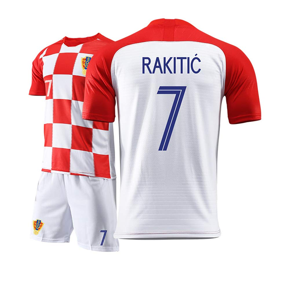 WWJIE Applicable sur Le Maillot de l/équipe Nationale de Croatie Principale///à lext/érieur Costume de Football Masculin pour Modric//Shandong Lu